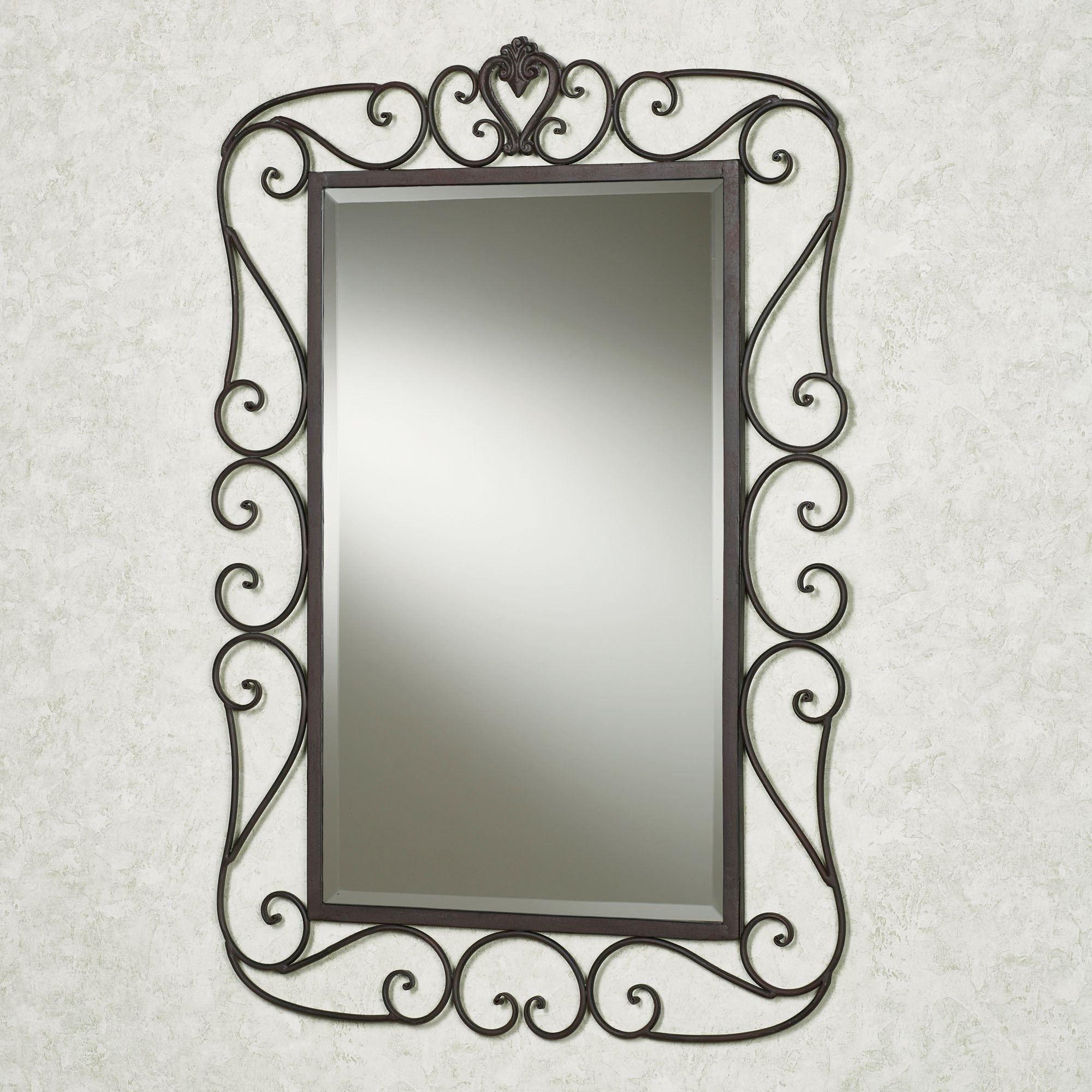 Wrought Iron Wall Mirror Frames  Moldura de espelho, Decoração do