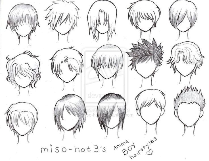 Anime Boy Hairstyles Spiky Drawings Google Search