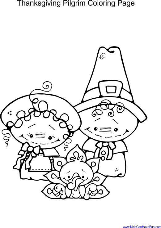 Pilgrim Coloring Pages - GetColoringPages.com | 735x521