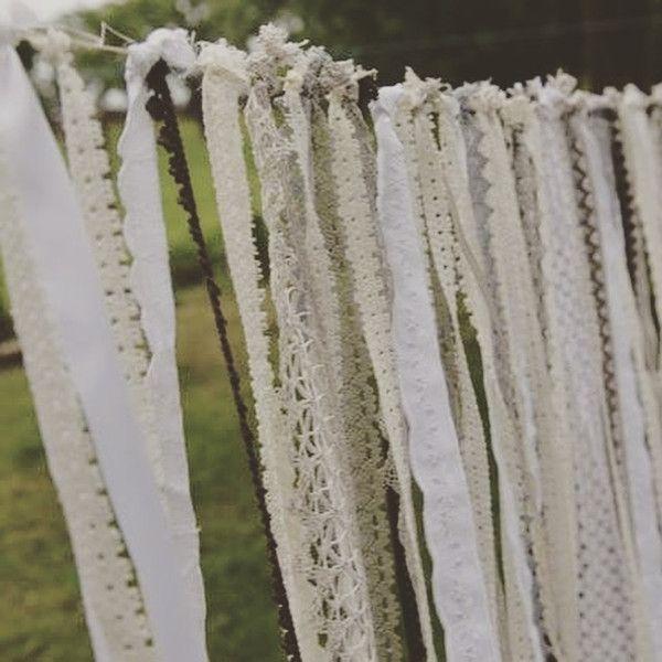 Guirnalda decorativa boda boho / vintage con encaje 50m Vintagelaedchen en DaWanda