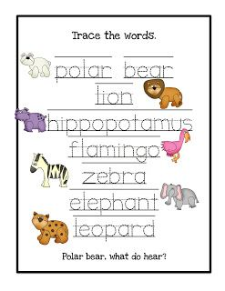 Preschool Printables: Polar Bear \