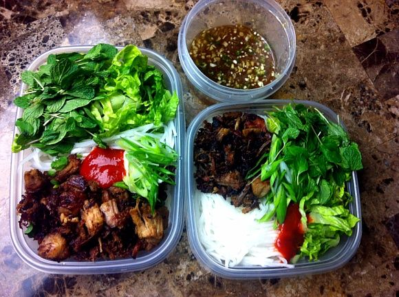 Photo of Lunch Box! Vietnamese Noodle Salad with Smoked Pork – Seonkyoung Longest
