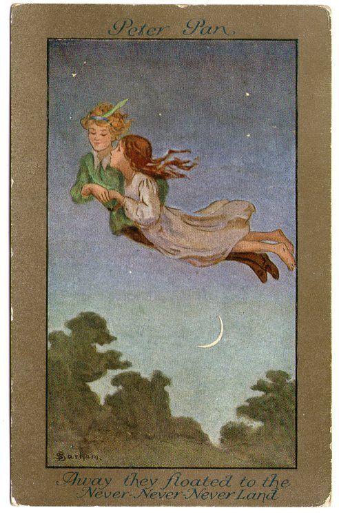 Peter Pan postcard from 1910...