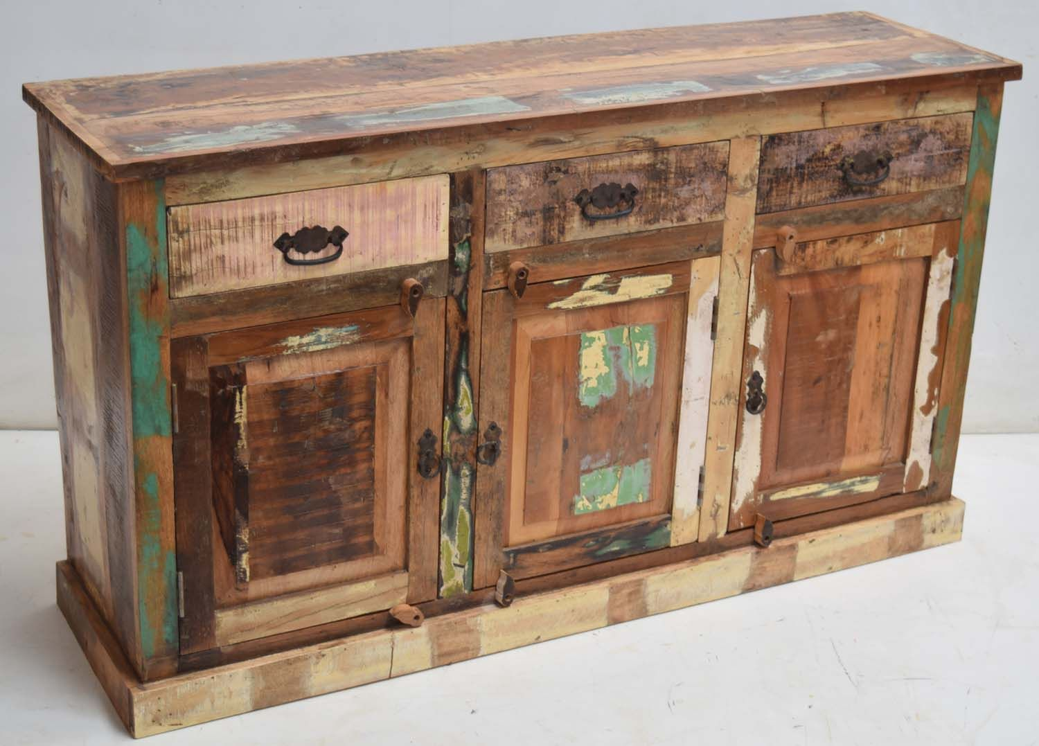 Recycled wooden sideboard jodhpur rajasthan furniture