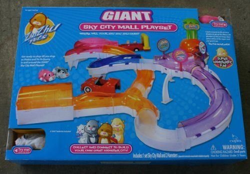 Zhu Zhu Pets Deluxe Playset Giant Hamster City Sky Mall Includes