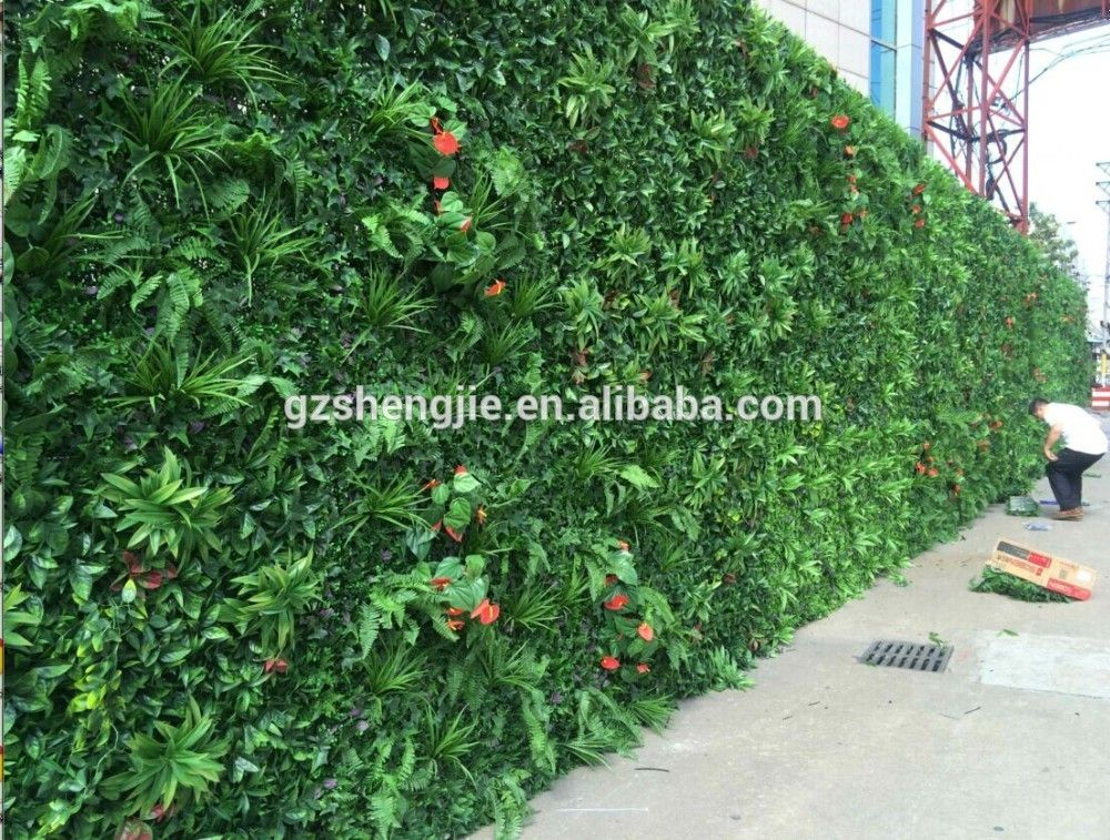 Outdoor Artificial Green Wall Green Fence For Sale View Wall Fence Designs Shengjie Product Details From Artificial Plants Artificial Green Wall Green Fence
