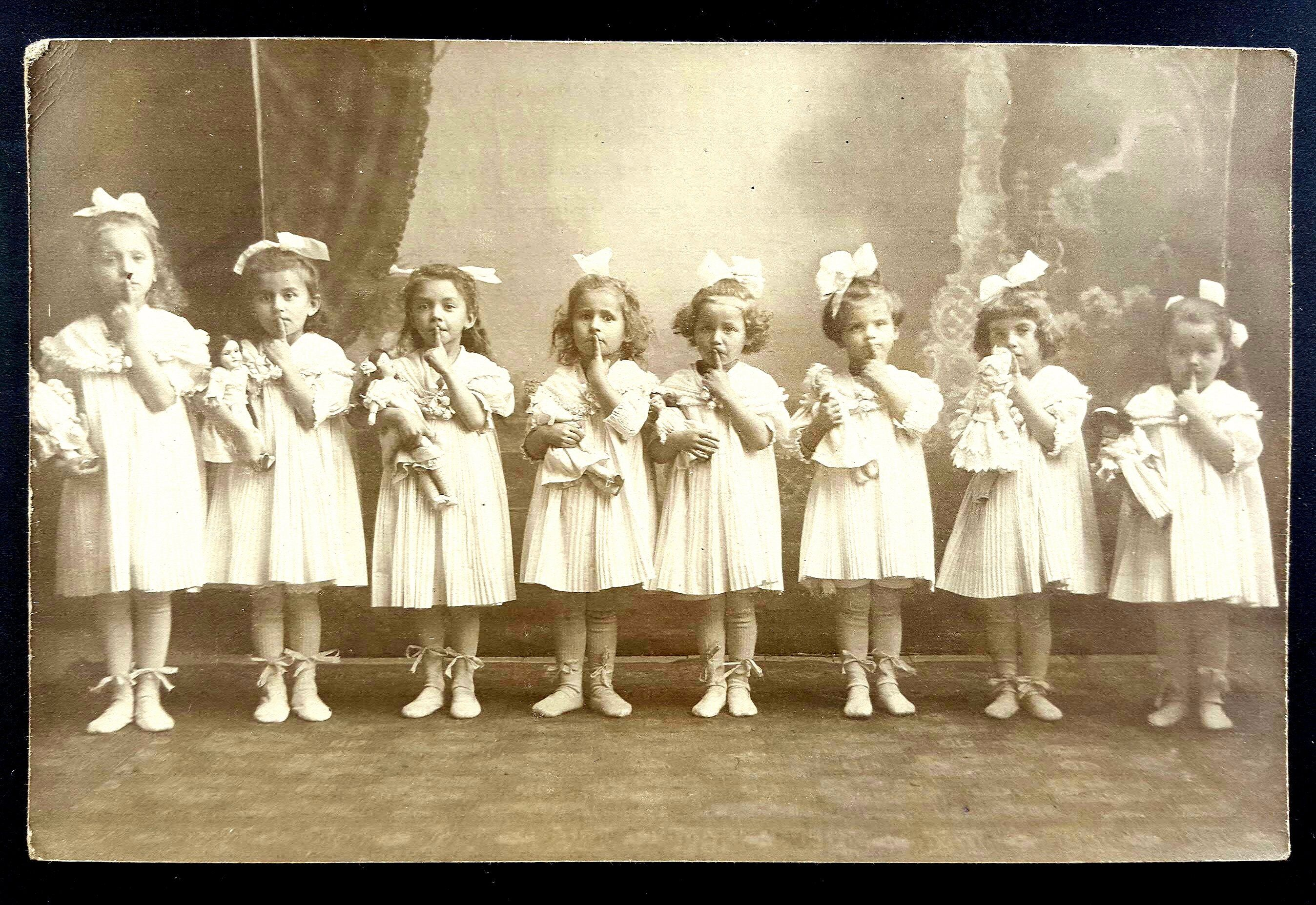 All sizes | Very sweet group of small girls with dolls. RPPC | Flickr - Photo Sharing!