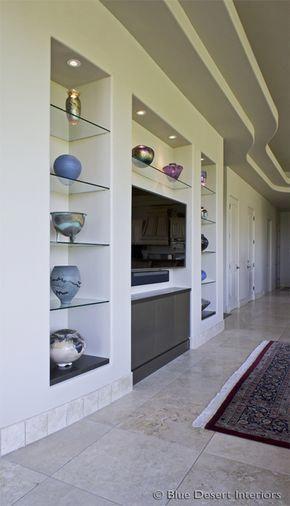 Modern Custom Home Entertainment Center Drywall Lacquer Paradise
