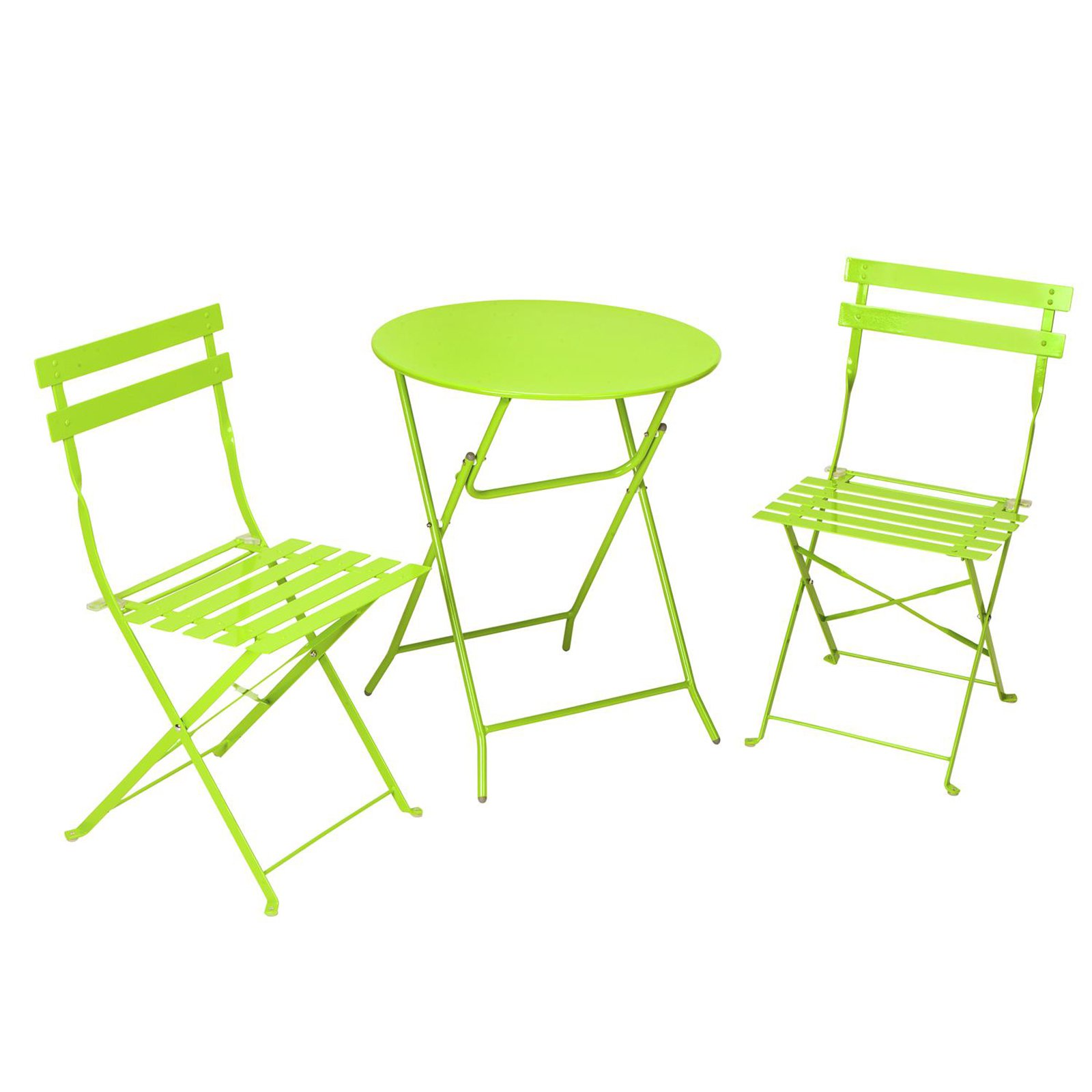 Outdoor Cosco Metal 3 Piece Folding Patio Bistro Set