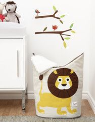 3 Sprouts Lion Laundry Hamper available at Love Me Do Baby and Maternity.