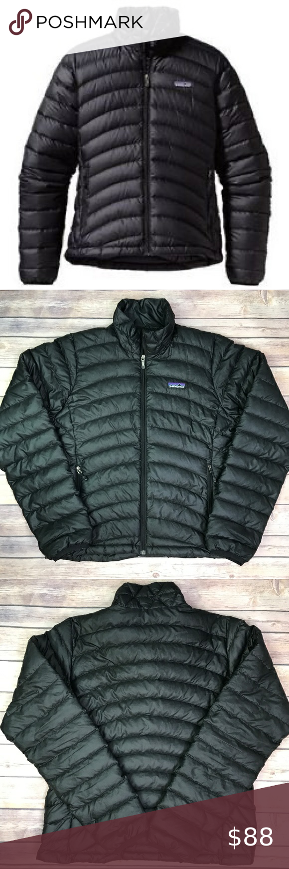 Patagonia Down Puffer Jacket Black Jackets Puffer Jackets Patagonia Jacket [ 1740 x 580 Pixel ]
