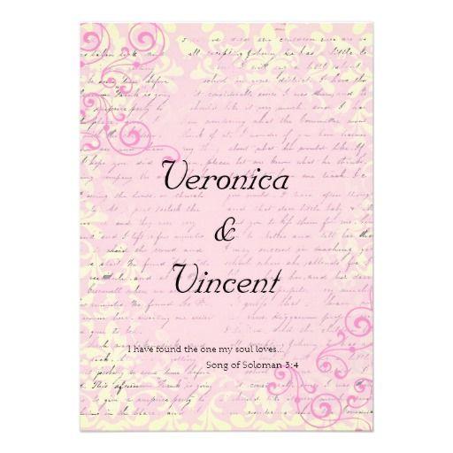 Best Bible Verse For Wedding Invitation: Vintage Romantic With Bible Verse Wedding Invitation