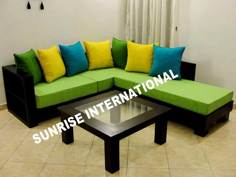 Custom Long L Shaped Wood Sofa Google Search Wood Sofa Sofa