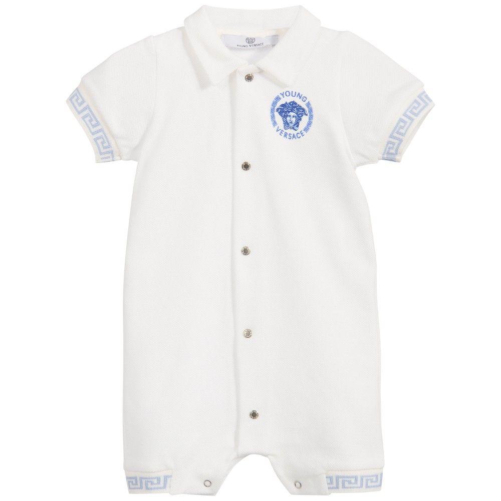 ebc01addb Baby Boys White Cotton Piqué Shortie