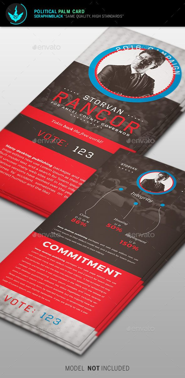 Political Palm Card Template Card templates, Template and Business - political brochure