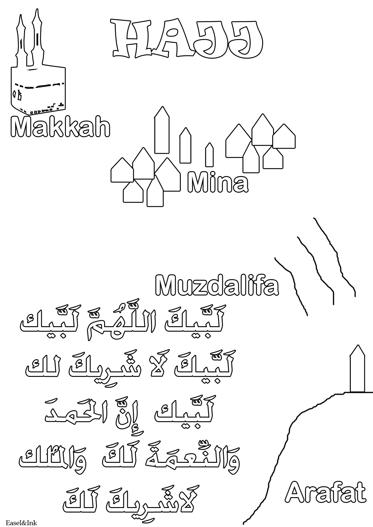 Basic Duas For Children Coloring Pages Easelandink