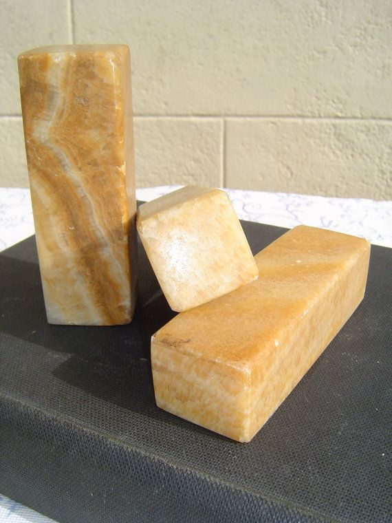 Three Stone/Marble Piers by frenchfollie on Etsy, $14.00