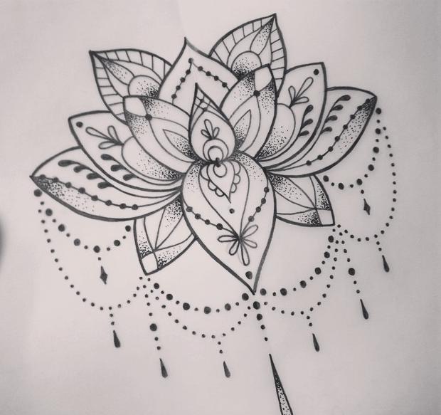 Lotus Tattoo Dot Work Tattoo Tatuajes Tatuaje De Loto Flor