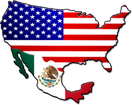 Not All Mexican American Immigration Is Negative However - Map of mexico and usa