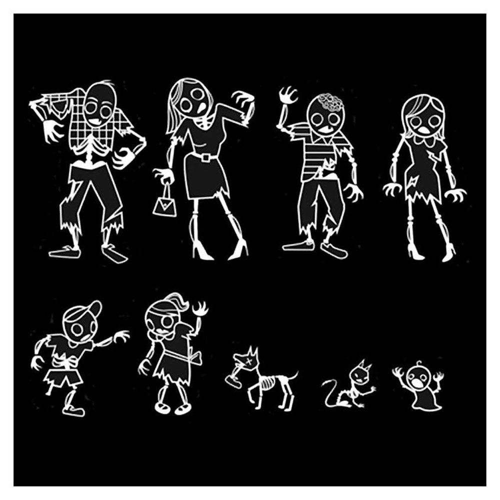 Gama-Go-My-Zombie-Family-Car-Decal-Stickers-Pack-Set