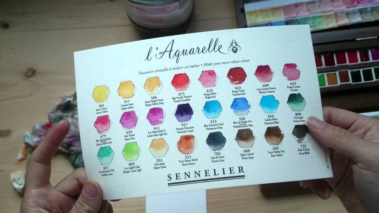 Sennelier Watercolor Walnut Set Unboxing