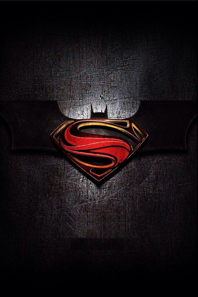 Batman Superman Logo Iphone 4 Wallpaper