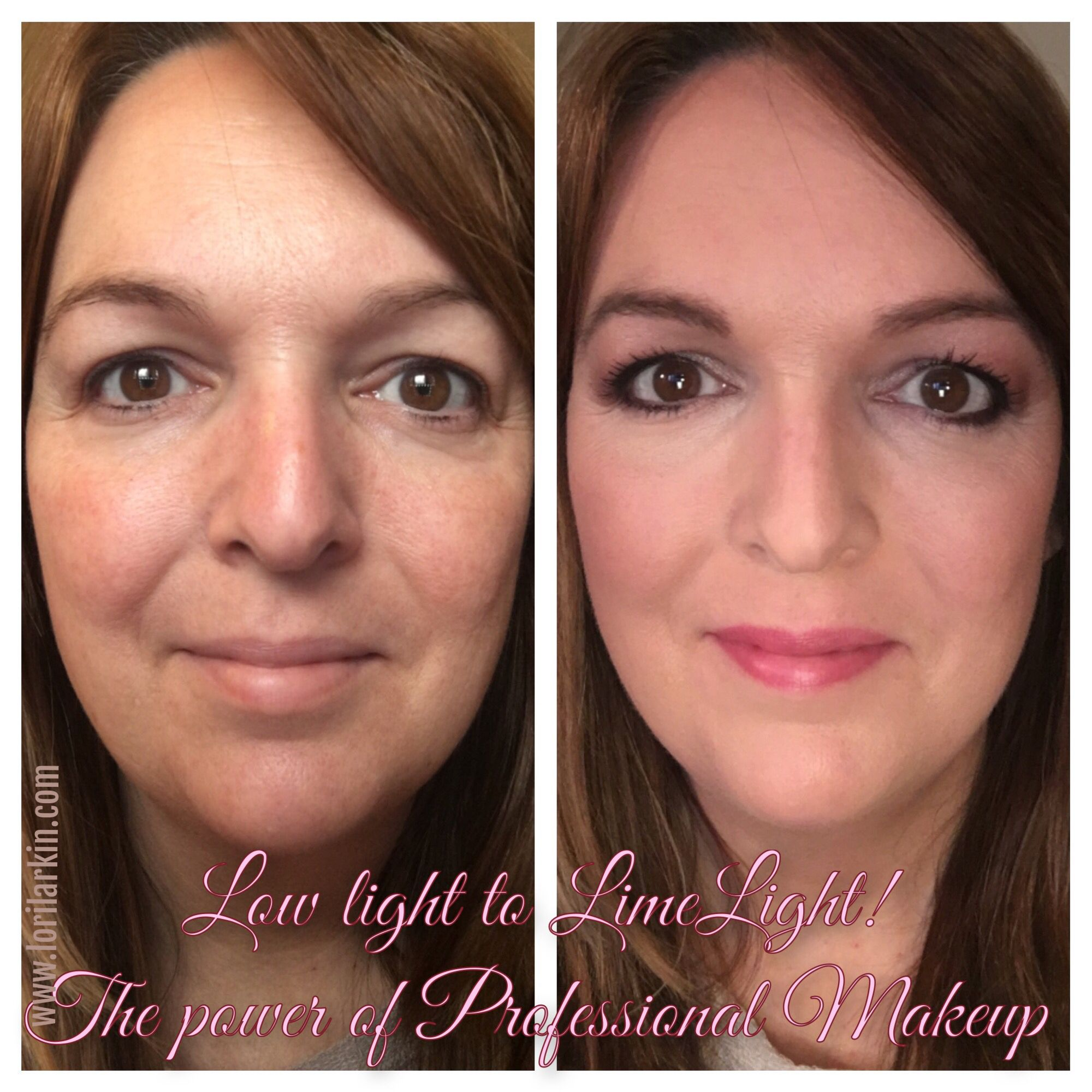 My personal before & after! LimeLight products have