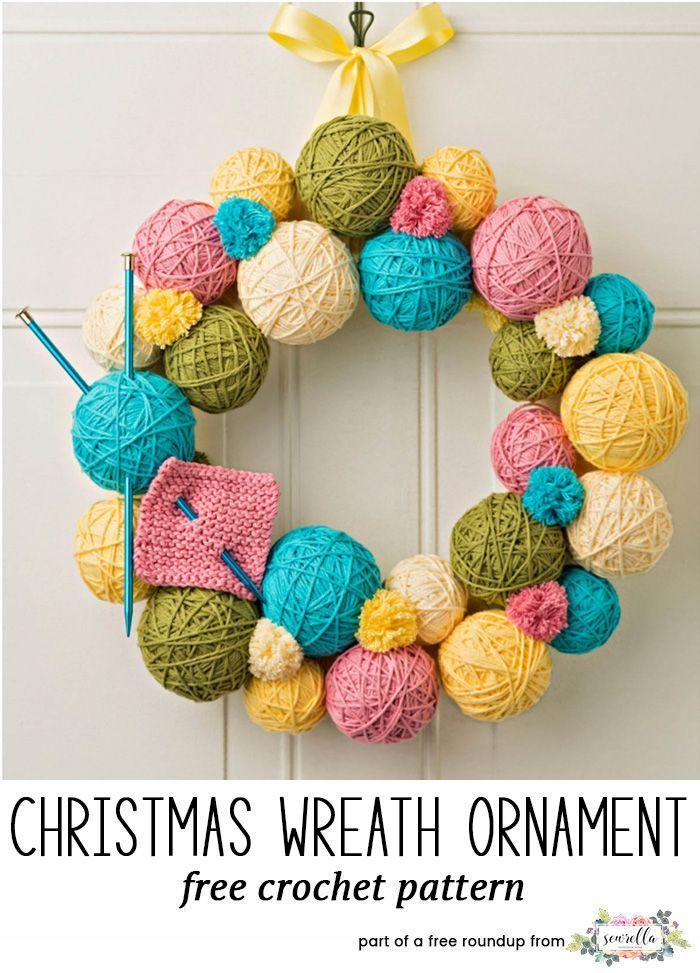 Festive Crochet Christmas Wreaths Yarn Ball Crochet Christmas And