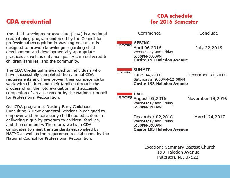 cda evening class schedule | cda | pinterest