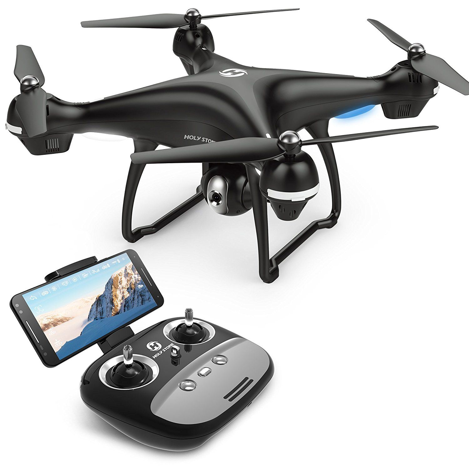 Amazon com: Holy Stone HS100 FPV RC Drone with Camera Live Video and
