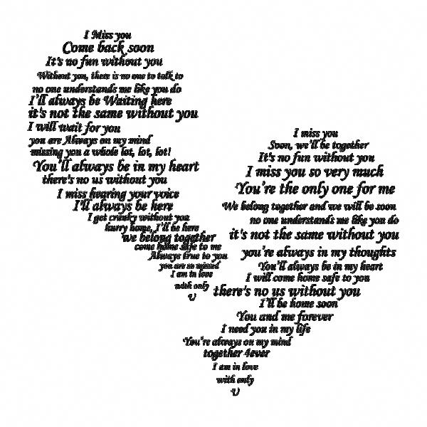 I Miss You - Broken Separated Heart Postcard | Zazzle.com