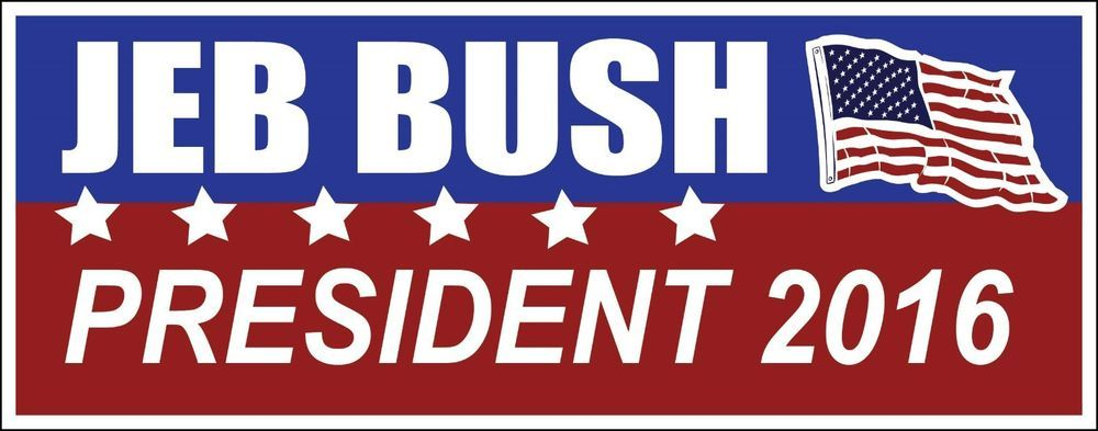 Jeb bush presidential campaign sticker choose style decal 2016 conservative gop in ebay motors ebay political bumper