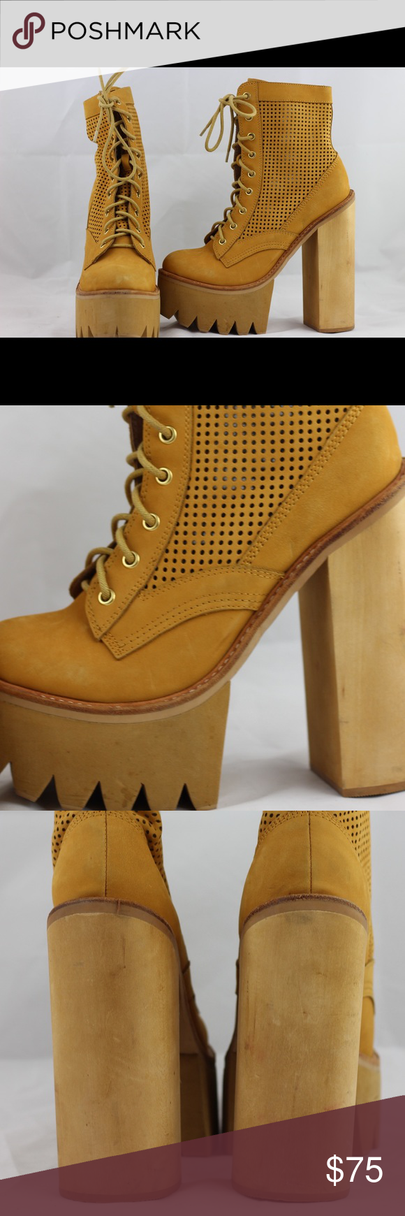 Jeffrey Campbell Boots 11 Tan/Camel colored Jeffrey Campbell heeled boots. Size 11 in excellent condition. Minor scuffing. Jeffrey Campbell Shoes Heeled Boots