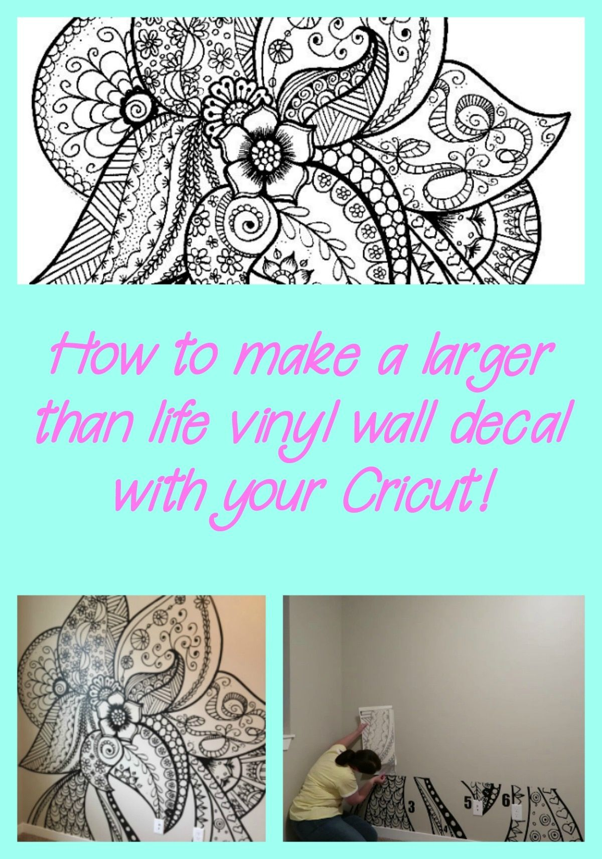 How To Create A Large Vinyl Wall Decal With Your Cricut Diy Wall Decals Vinyl Wall Decals Cricut Projects Vinyl