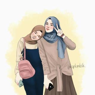 kartun sahabat muslimah terbaru ely setiawan kartun
