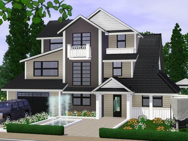 Modern Villa by gabi89 - Sims 3 Downloads CC Caboodle | Sims 3 ...