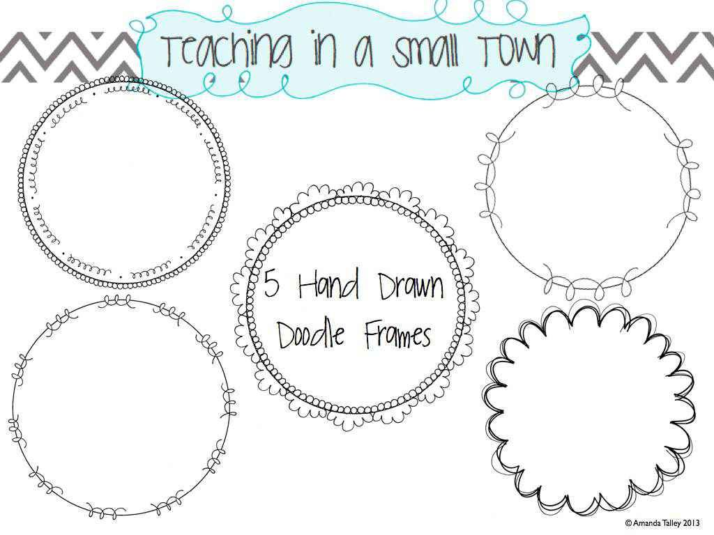 circular frames from: http://teachinginasmalltown.blogspot.com/