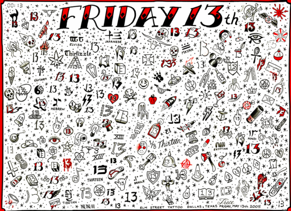 Friday The 13th Tattoo Chart I Would Lo 13th Chart Friday