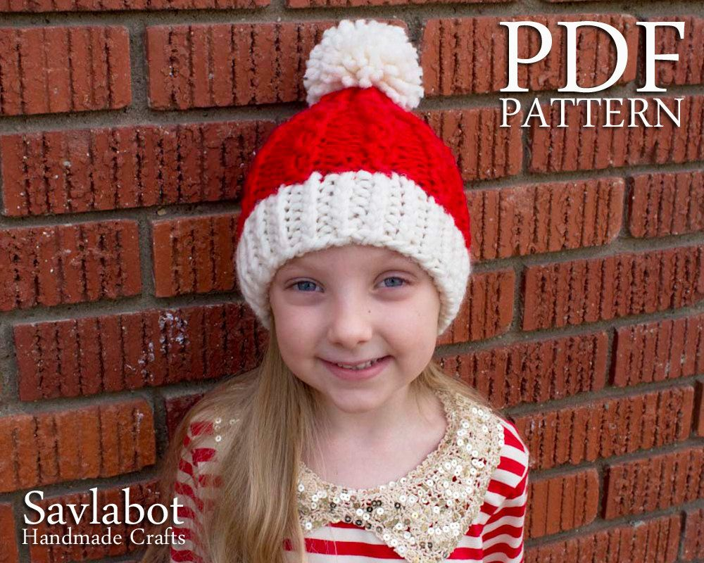 Christmas santa hat knit pattern pdf beanie mock cable knit christmas santa hat knit pattern pdf beanie mock cable knit santa hat no bankloansurffo Images