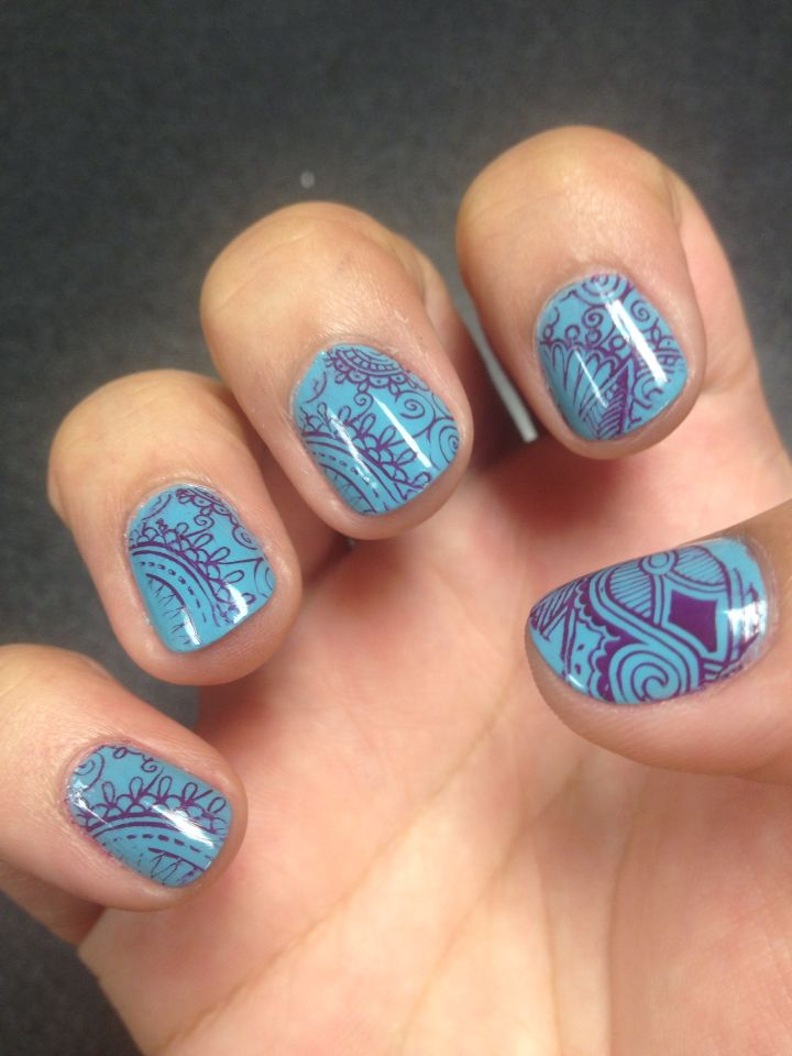 Nail Stamps From The Sanctuary Natural Nails In Austin Tx Looks