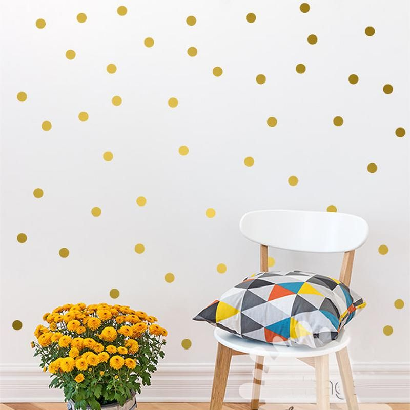 Adorable Polka Dots Wall Art Vinyl Wall Decals Removable Wall Stickers For Kids Bedroom Colorful Room Polka Dot Wall Decals Boy Room Wall Decor Diy Wall Decals