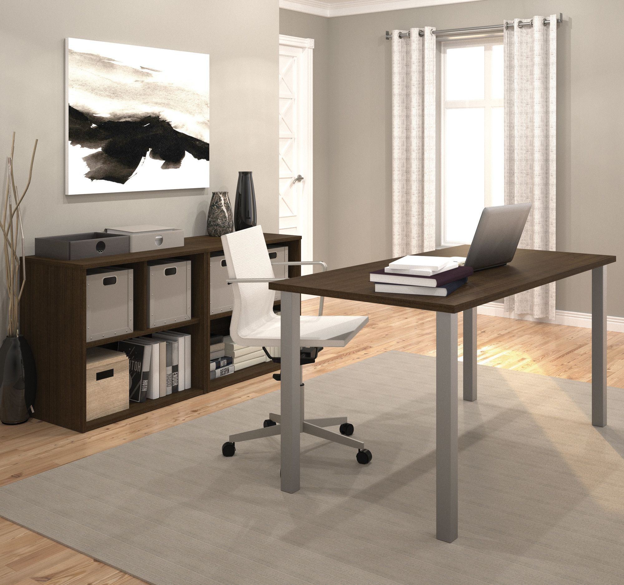 Luther 2 Piece U-Shaped Desk Office Suite | Products | Pinterest ...