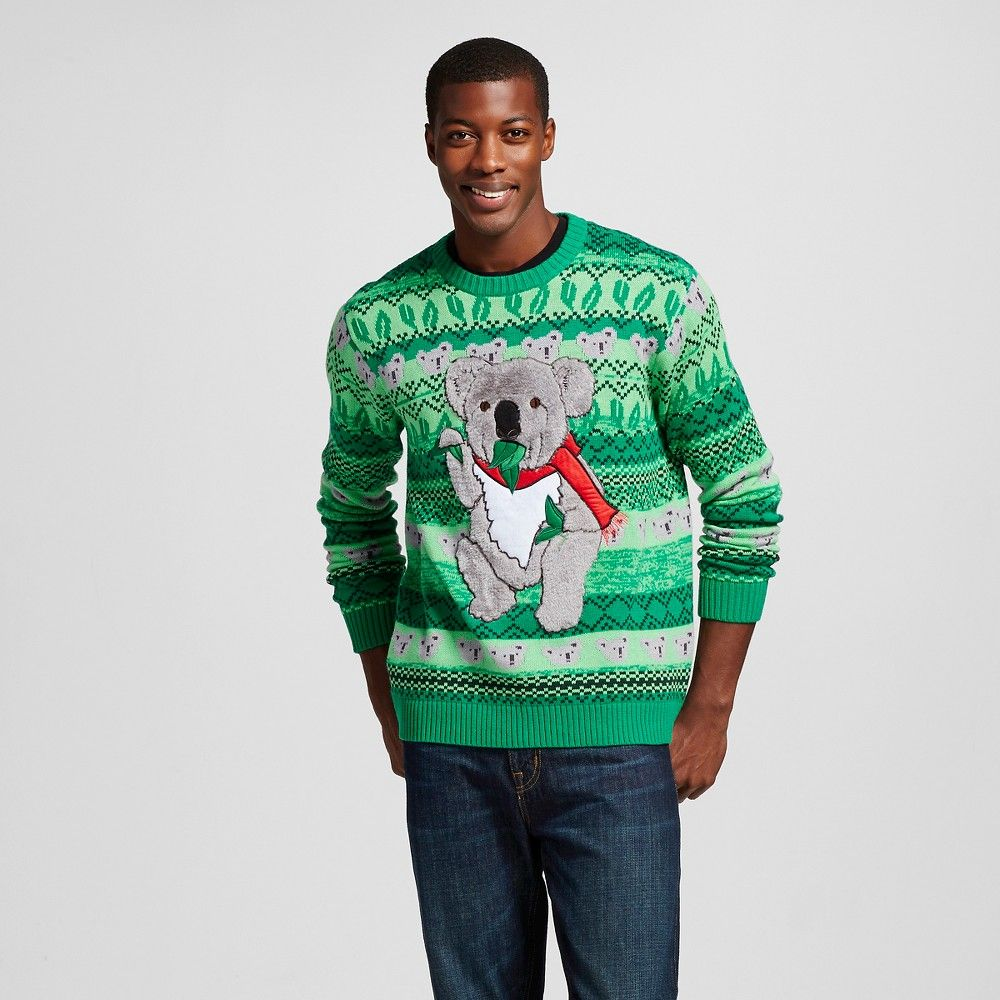 Mens Ugly Christmas Koala Sweater Green Xxl 33 Degrees Products