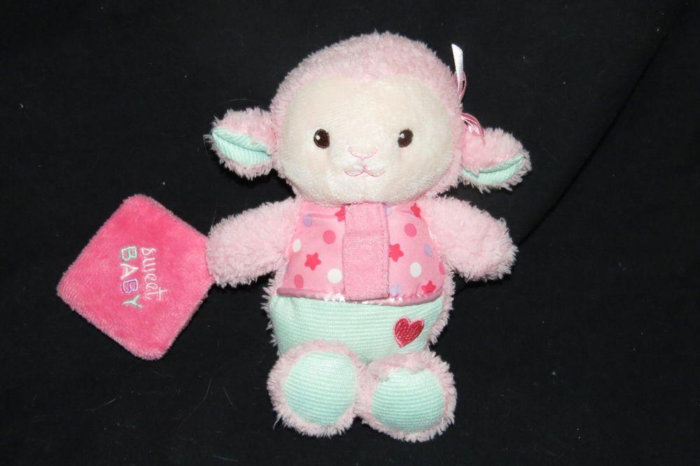 Garanimals Sweet Baby Pink Lamb Sheep Lovey Crinkle Pacifier Holder