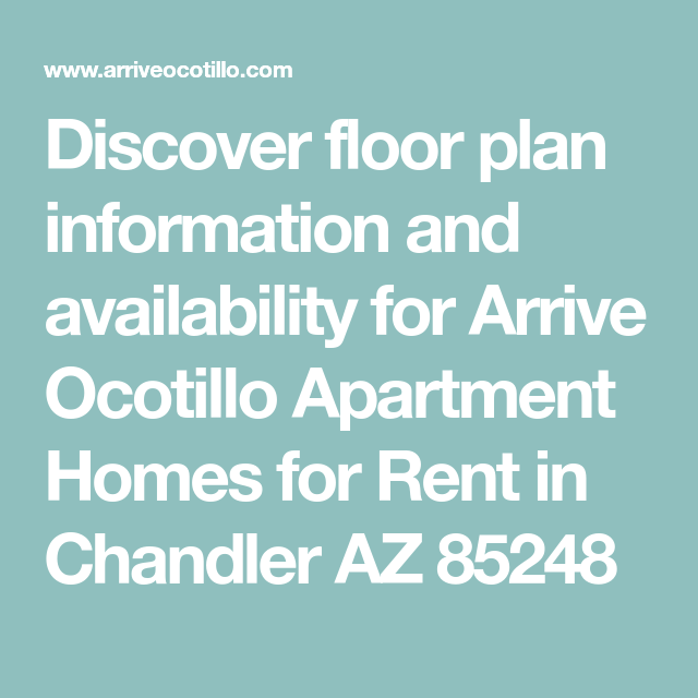 Discover Floor Plan Information And Availability For