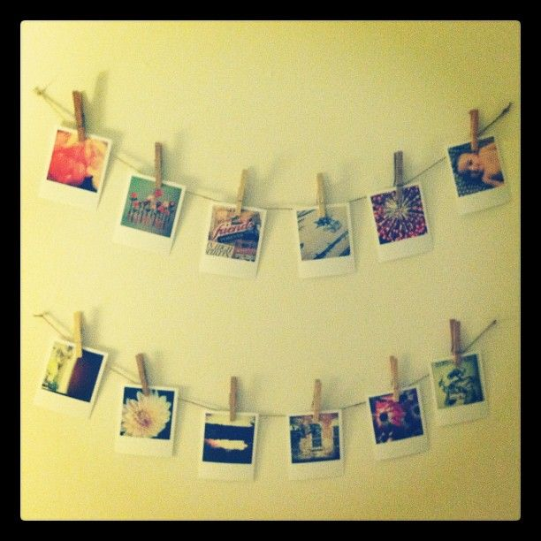 My #diy wall #decor :) made #polaroids from some of my best ...