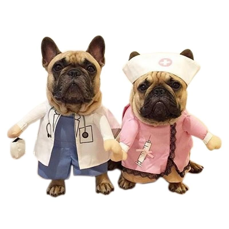 Doctor And Nurse Couple Funny Pet Costume For Dog Pet Costumes