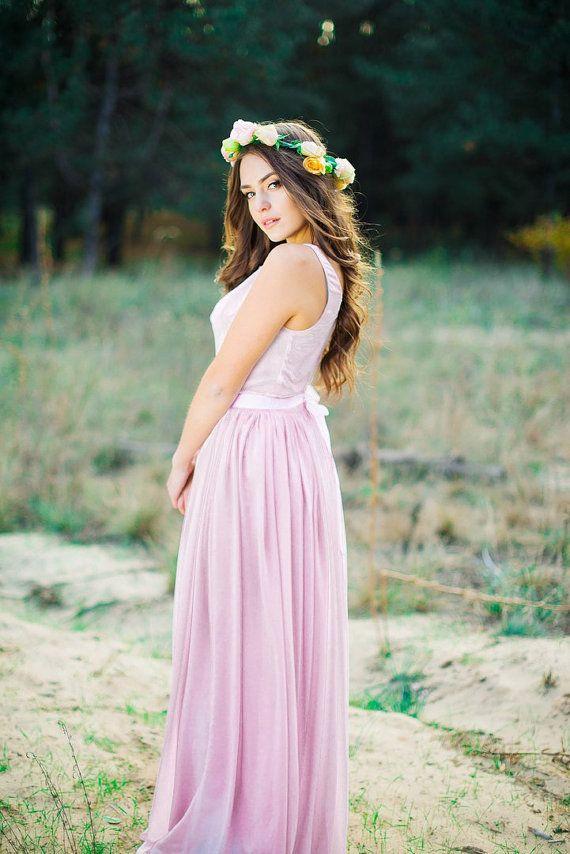 Hell lila kleid