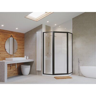 Coastal Shower Doors Legend Neo Angle Series 59 X 70 Hinged Shower Door In 2020 Coastal Shower Doors Neo Angle Shower Neo Angle Shower Doors
