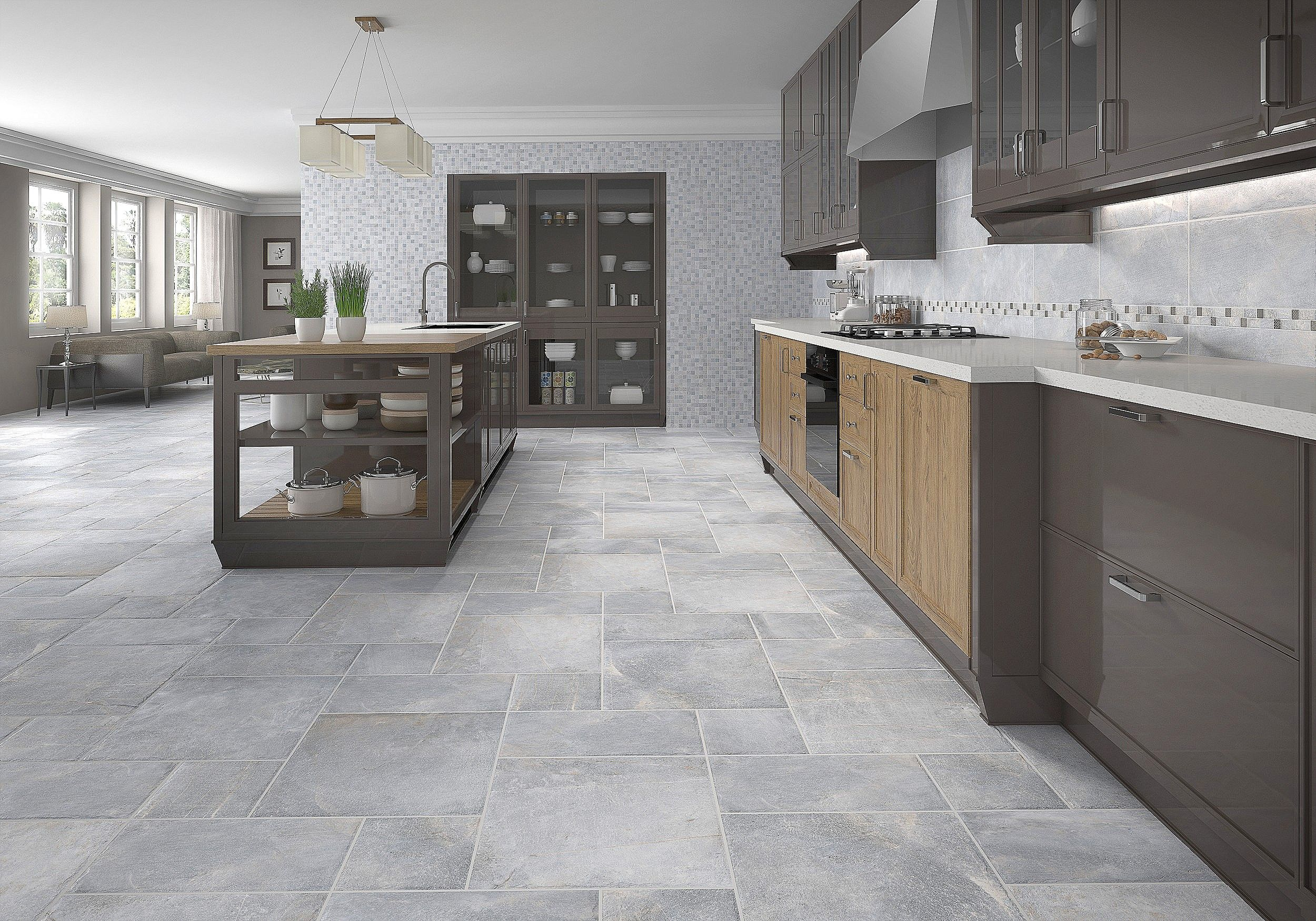 Awesome Gray Flooring Idea Picture 9 Of 36 Kitchen Floor ...